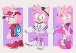 Amy in 3 Outfits