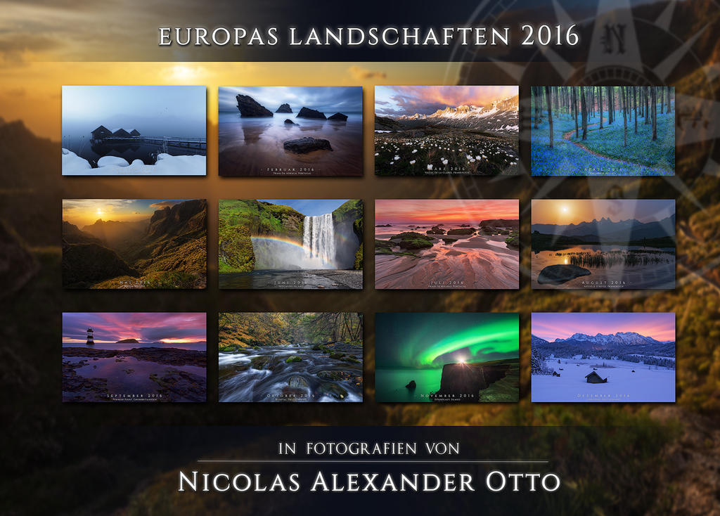 Calendar 2016: Europe's Landscapes by NicolasAlexanderOtto
