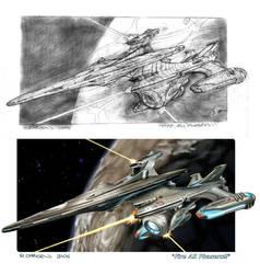 Star Trek sketch - digital by Richard-Daborn