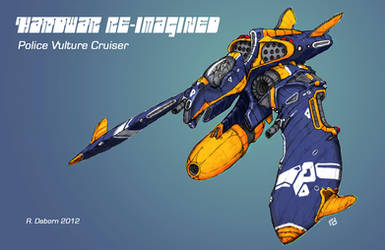 Vulture Police Cruiser. by Richard-Daborn