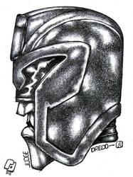 Judge Dredd portrait study. by Richard-Daborn