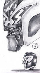 Judge Dredd Chin Study. by Richard-Daborn