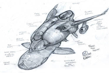 Puffer-Fish, Light fighter concept. by Richard-Daborn