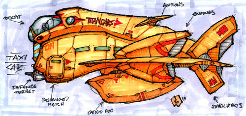 Flying Taxi Cab profile study. by Richard-Daborn