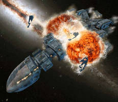Titan Explosion by Richard-Daborn