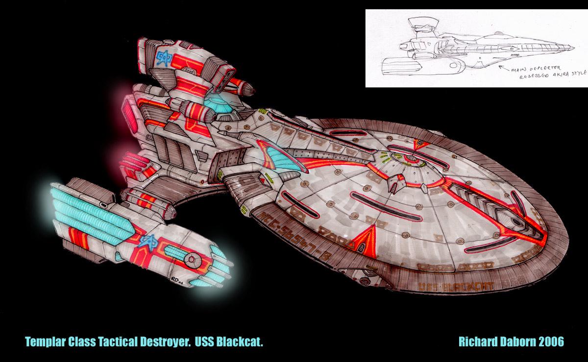 Star Trek Federation Destroyer by Richard-Daborn