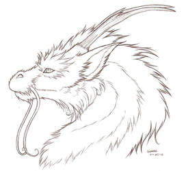 furry dragon lines by Liedeke