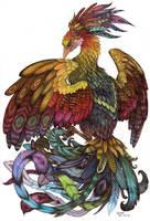 phoenix colored by Liedeke