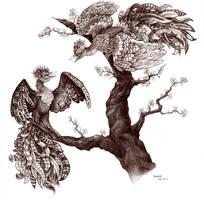 two birds by Liedeke