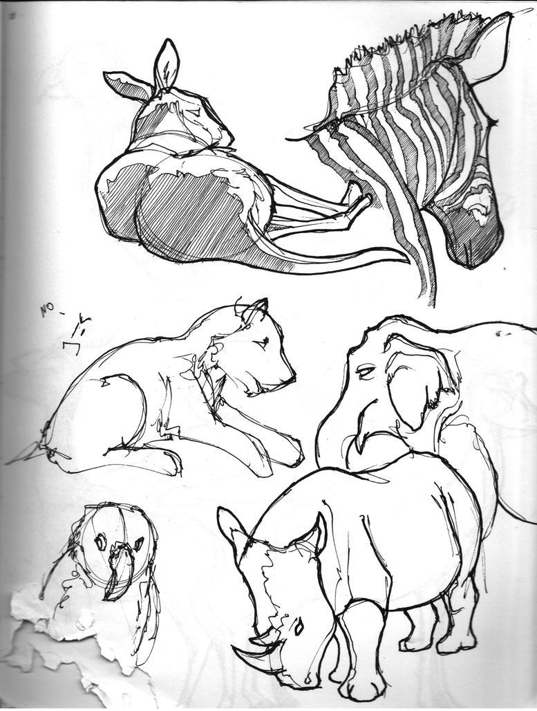 Zoo Sketchbook - 27 by subtlePixel