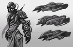 Sci Fi Armor Gauntlets