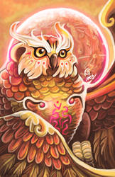 Spirit of the Forest: Fantasy Owl