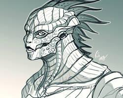 Female O'nuheidryn Sketch by KeeperofAges
