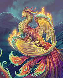 Phoenix Aflame- Final by KeeperofAges