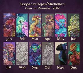 Keeper of Ages- Summary of Art 2017 by KeeperofAges