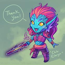 Chibi Elaryn - Thank You! by KeeperofAges