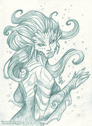Aelyn - Triton Priestess by KeeperofAges