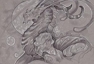 Clyssus Dragon - Inktober Sketch