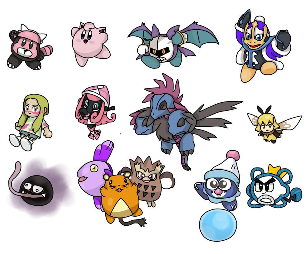 Kirbymon, Kirby And Pokemon AU By Alexmauricio407 On