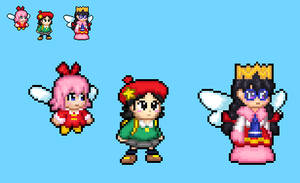 Ribbon, adeleine and Fairy queen