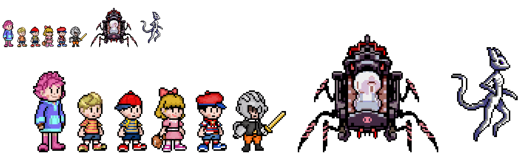 some characters from mother 1, 2 and 3 by alexmauricio407 on