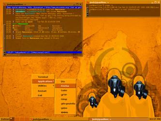 Debian 'etch' and JWM 1.4p1 by UnixPunx83