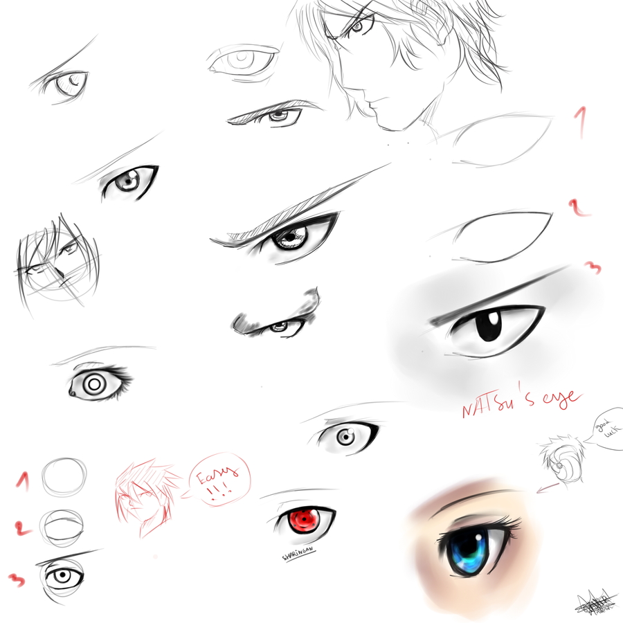 TuTo-How to draw eyes (Inc reference) by GaaraJapanime on ...