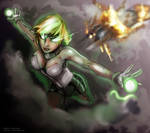Green lantern Arisia.