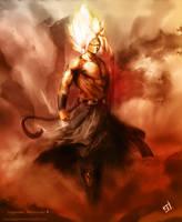 Mythic Super Saiyan God by GaaraJapanime