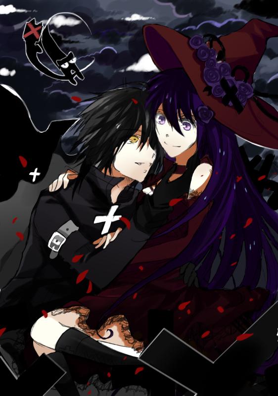 ++Halloween night++vampire and witch by utawa