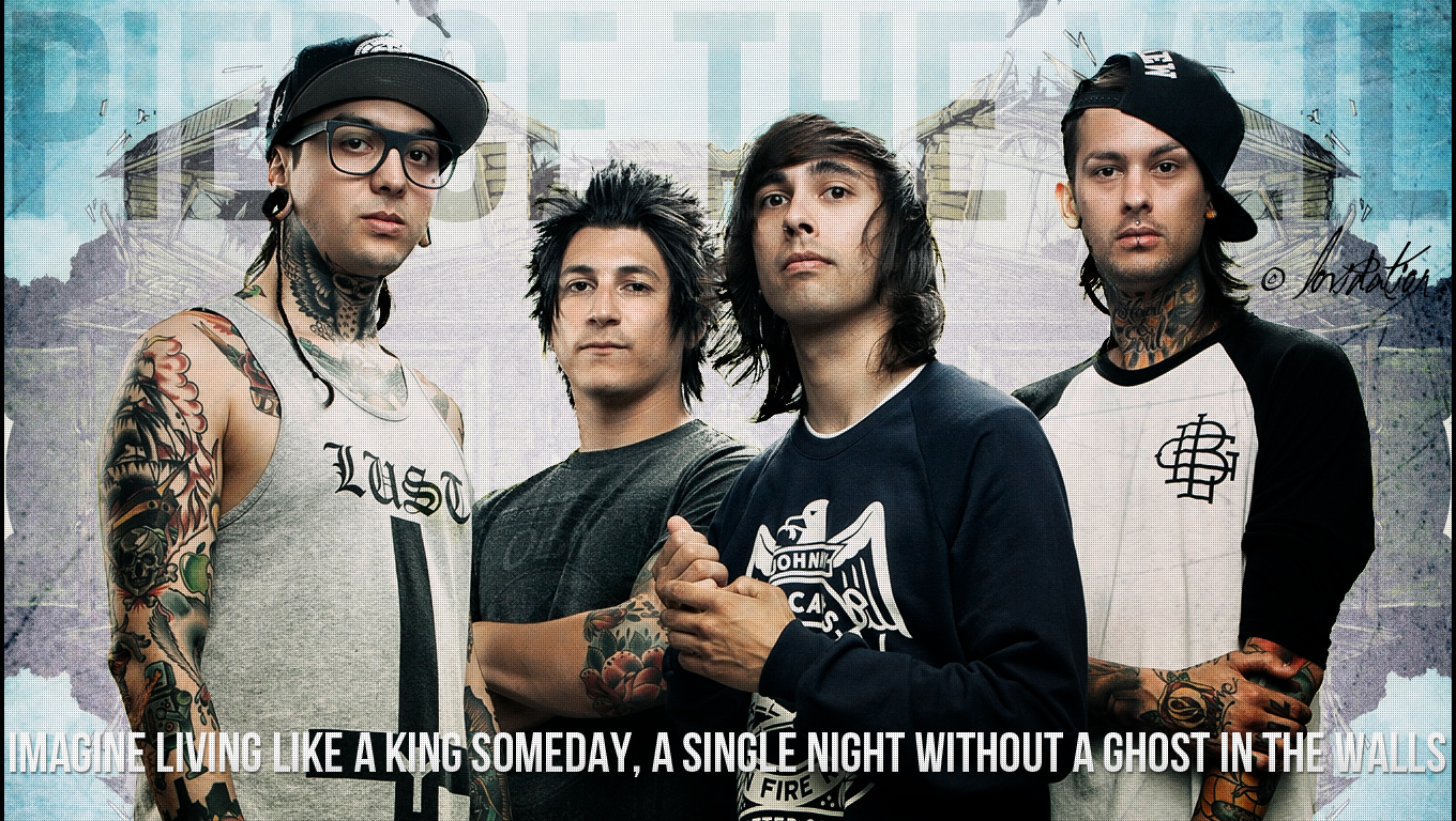 pierce the veil wallpaper by lovidation on deviantart
