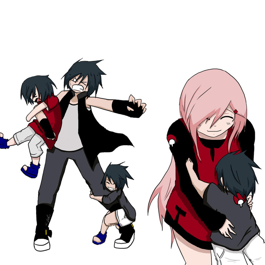Uchiha_Haruno_FAMILY by TheMessangerVIII on DeviantArt