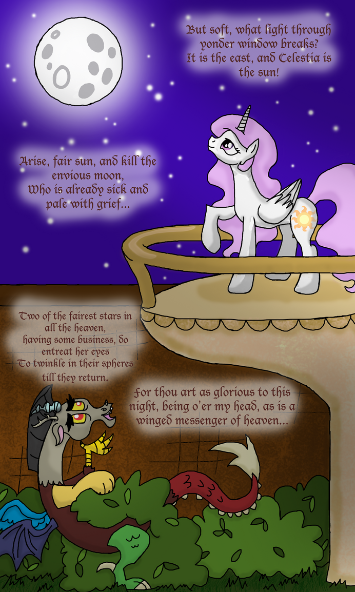 Discord and Celestia: A Parody of Romeo and Juliet by InkRose98
