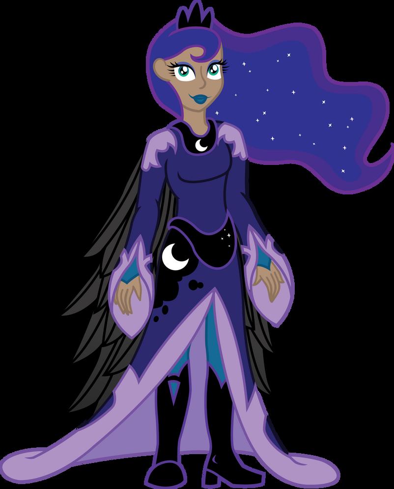 Humanized Princess Luna By InkRose98 On DeviantArt