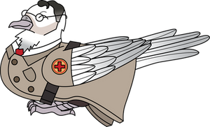 Medic Dove Sits in an Adorable Way by InkRose98