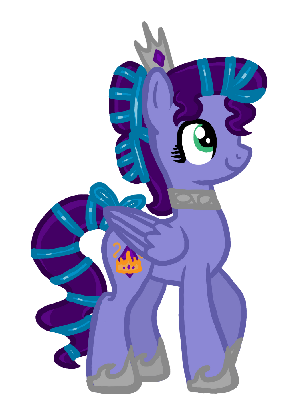 Queen Amethyst Shine of the Crystal Empire by InkRose98
