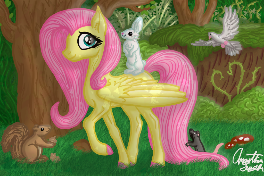 Fluttershy by InkRose98