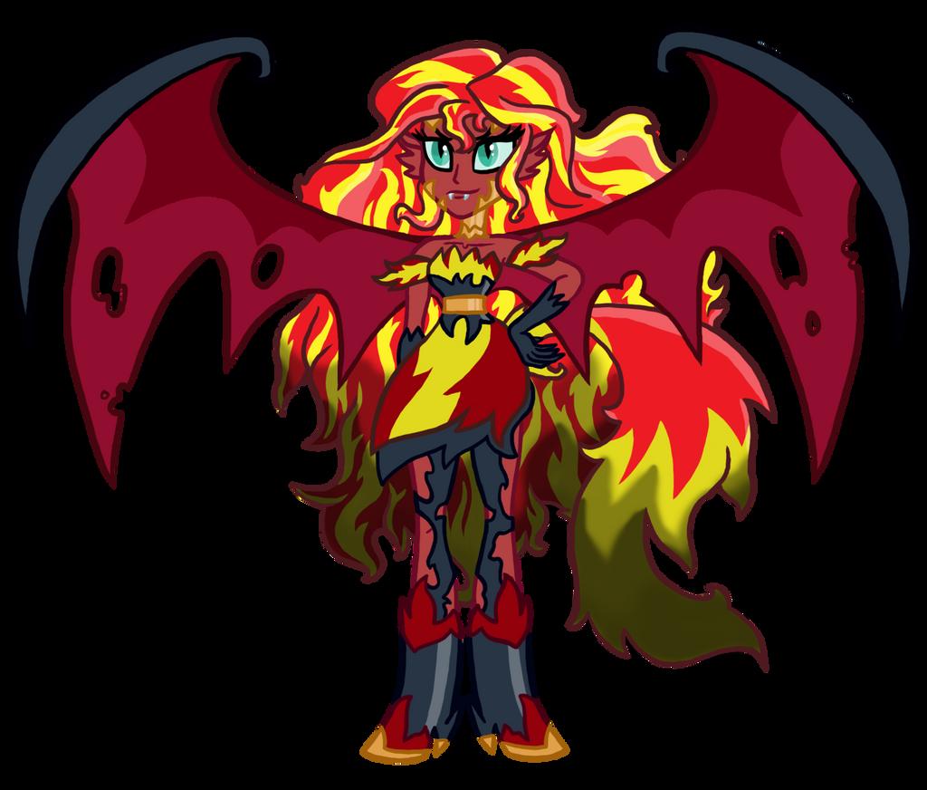 Demon Sunset Shimmer REDESIGNED by InkRose98