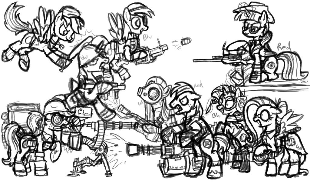 (WORK IN PROGRESS) My Little Team Fortress 2 by InkRose98