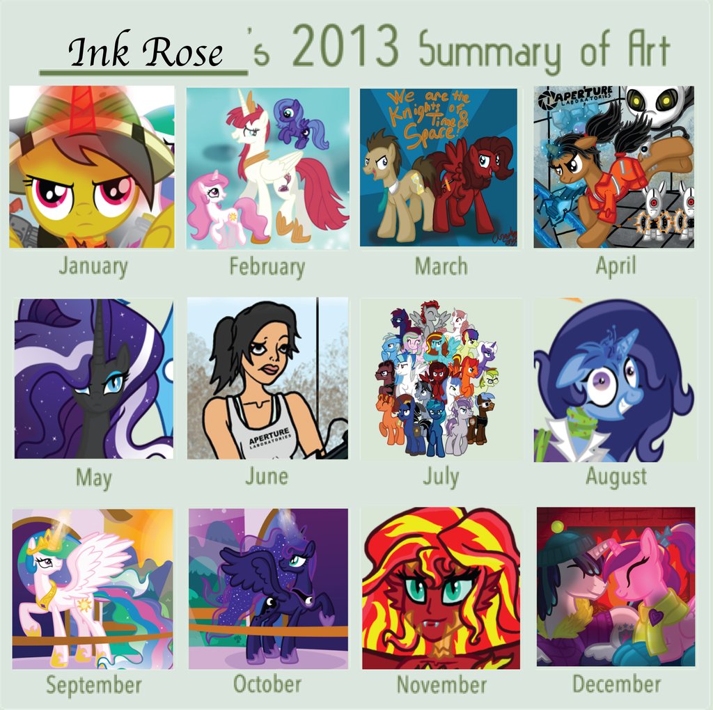2013 Art Summary by InkRose98