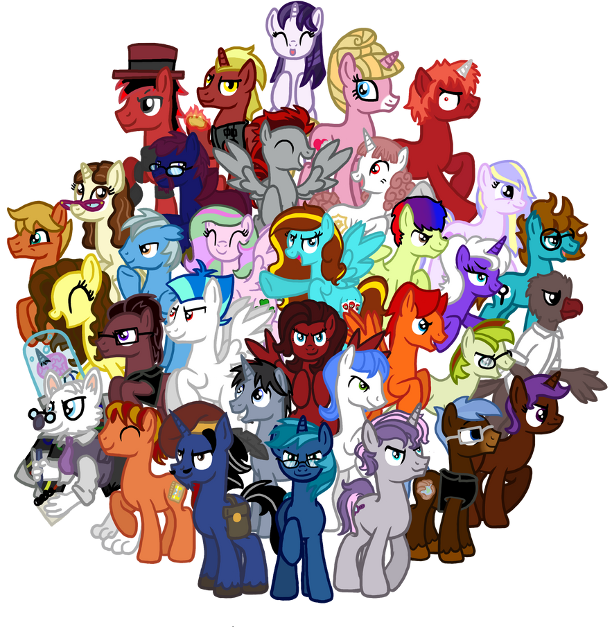 The League of Analysis Bronies (Updated) by InkRose98