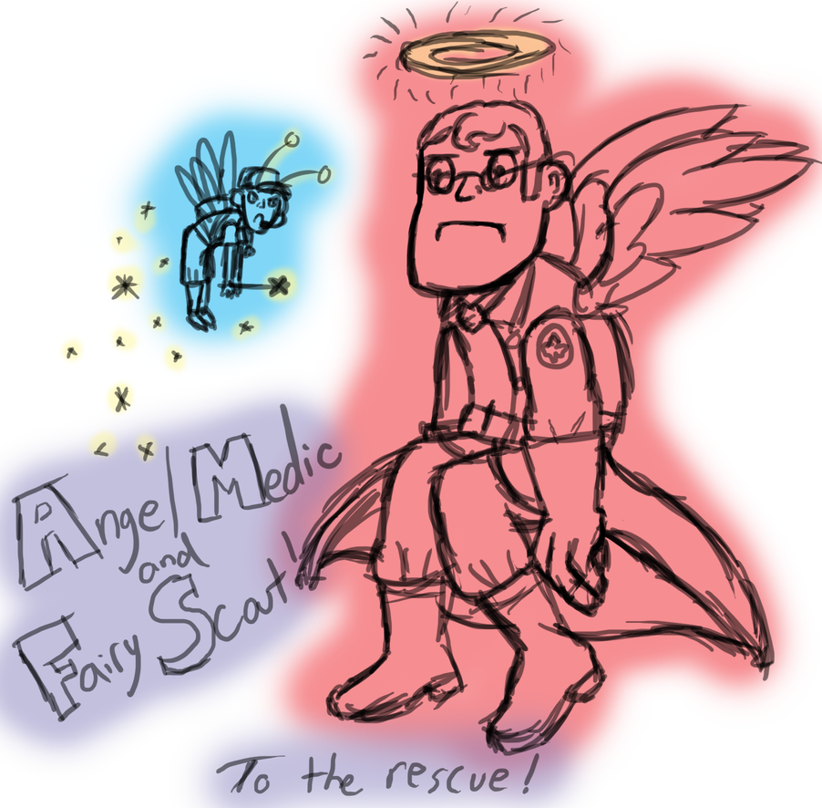 Angel Medic and Fairy Scout... to the rescue! by InkRose98