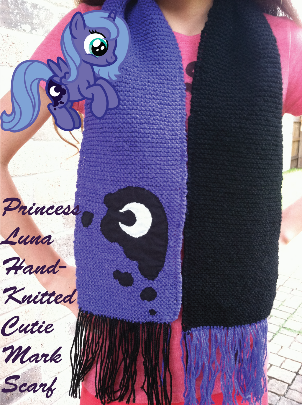 princess knitted scarf for sale by inkrose98