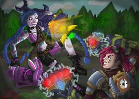 Jinx vs Vi: League of Legends Face Off Contest