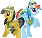 Daring Do and Dash