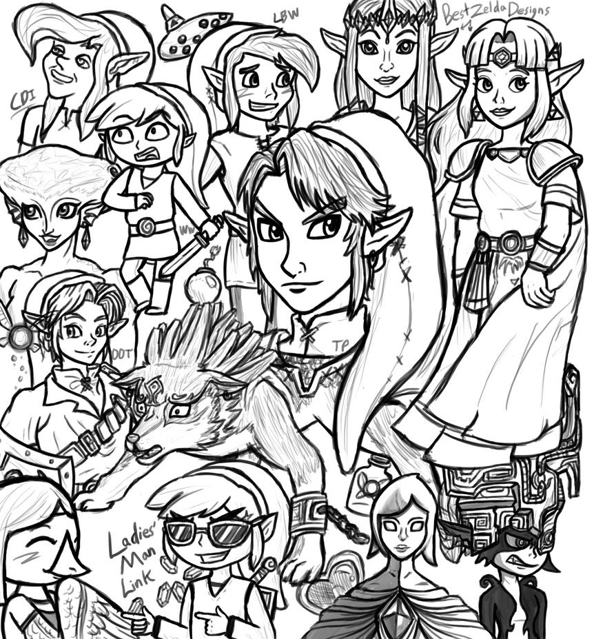 Legend of Zelda Sketch Dump! by InkRose98