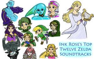 Top 12 Zelda Soundtracks!(Link to video below) by InkRose98