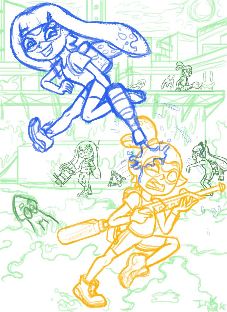 Splatoon Fight! (WIP) by InkRose98
