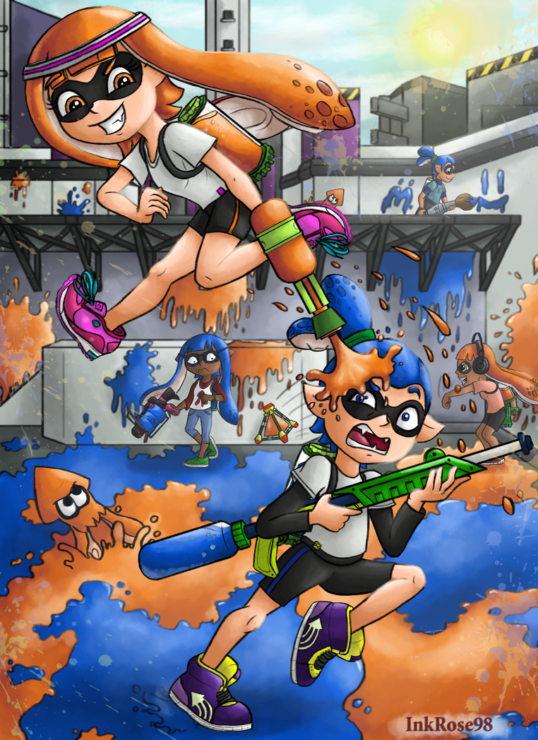 Splatoon Fight! by InkRose98