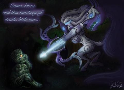 Kindred and Amumu (League of Legends Fanart)